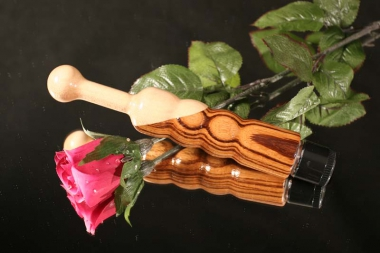 Holzvibrator Fleurir Ahorn/Zebrano